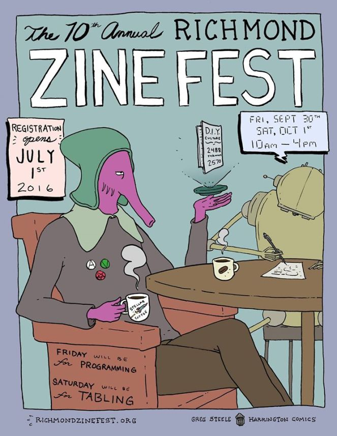 10th Annual Richmond Zine Fest poster