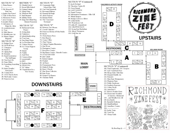 Zine Fest Layout for Program 2018