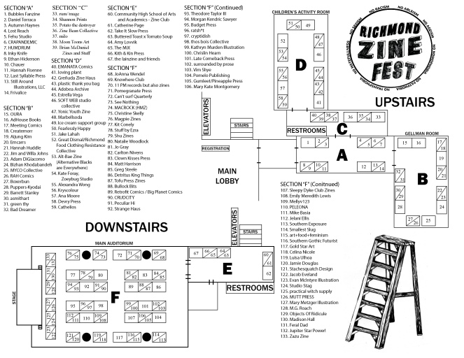 Zine Fest Layout for Program 2019